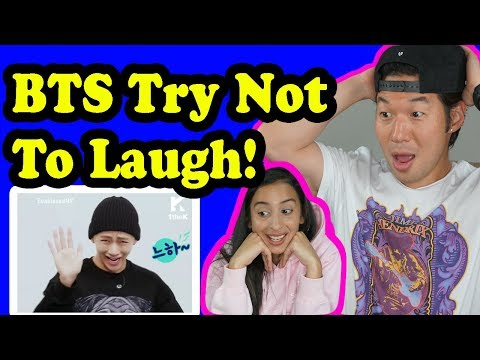 BTS TRY NOT TO LAUGH CHALLENGE REACTION!!!