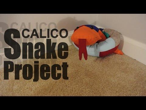Stuffed calico snake - DIY tutorial