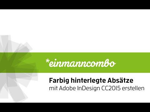 Farbig hinterlegte Absätze in Adobe InDesign CC2015