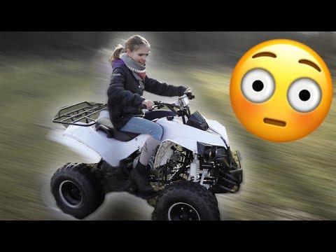Kleine Schwester fährt das erste mal 125ccm QUAD! **ANGST** 😳