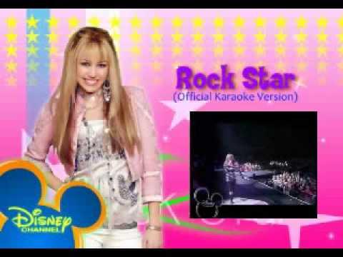 hannah montana 2 - rock star (official karaoke version)