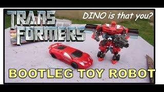 TRANSFORMERS DINO Bootleg | CAR TRANS FORMERS - Red Car Robot | Fake Transformer