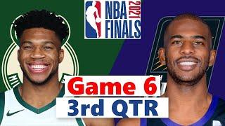Milwaukee Bucks vs. Phoenix Suns Full Highlights 3rd Quarter Game 6 | NBA Finals 2021