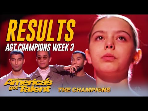 RESULTS: @America's Got Talent Champions Week 3 WOWS! Did Your Fave Make It?