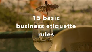 15 must know business etiquette rules