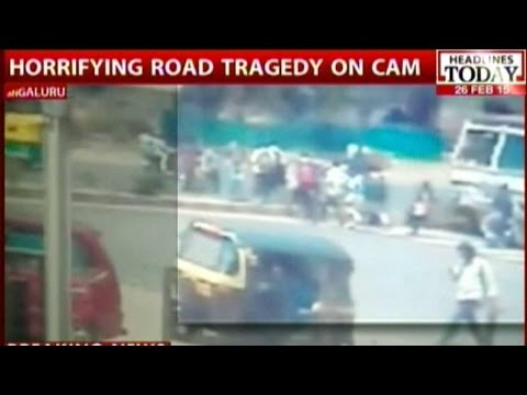 Speeding Tanker runs over 5 people in Bangalore