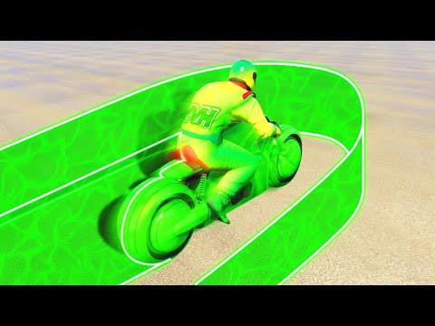 INSANE TRON BIKE LASER BATTLE! (GTA 5 Funny Moments)