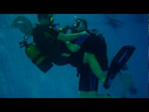 PADI Rescue Diver Course Panicked Diver underwater