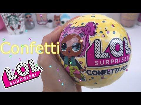 Lol Surprise CONFETTI POP-  mini doll 9 sorprese e cambia colore!!!