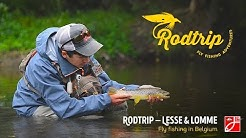 Dry fly fishing on Lesse & Lomme, season ending in Belgium