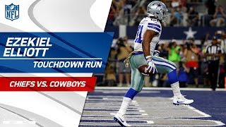 Ezekiel Elliott's TD Caps Off Drive, Dallas Takes Back the Lead!   Chiefs vs. Cowboys   NFL Wk 9