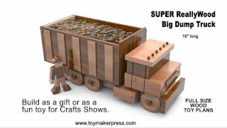 Wood Toy Plans - Table Saw - Big Dump Truck
