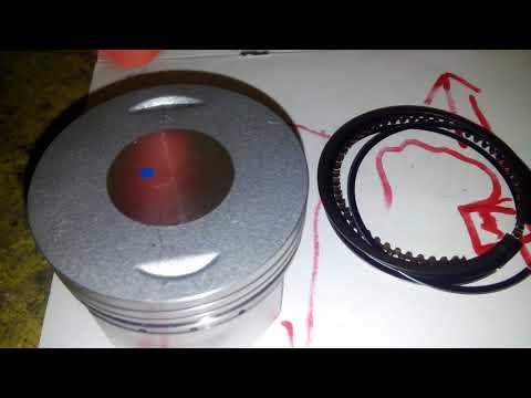Как правильно ставить поршневые кольца на поршень 4т
