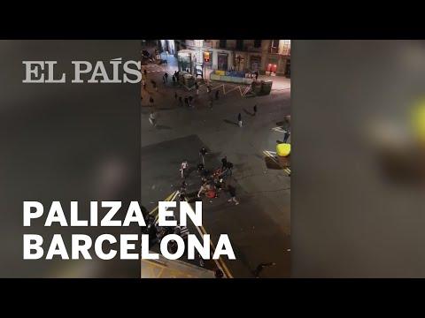 La brutal paliza de varios ULTRAS a un joven ANTIFASCISTA en Barcelona
