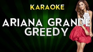 Download Ariana Grande - Greedy | Lower Key Karaoke Instrumental Lyrics Cover Sing Along MP3 song and Music Video