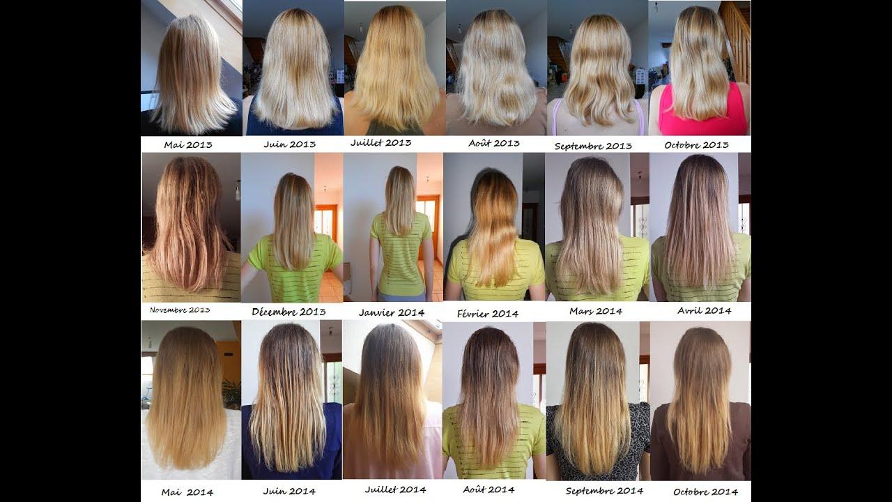Longueur pousse cheveux par mois
