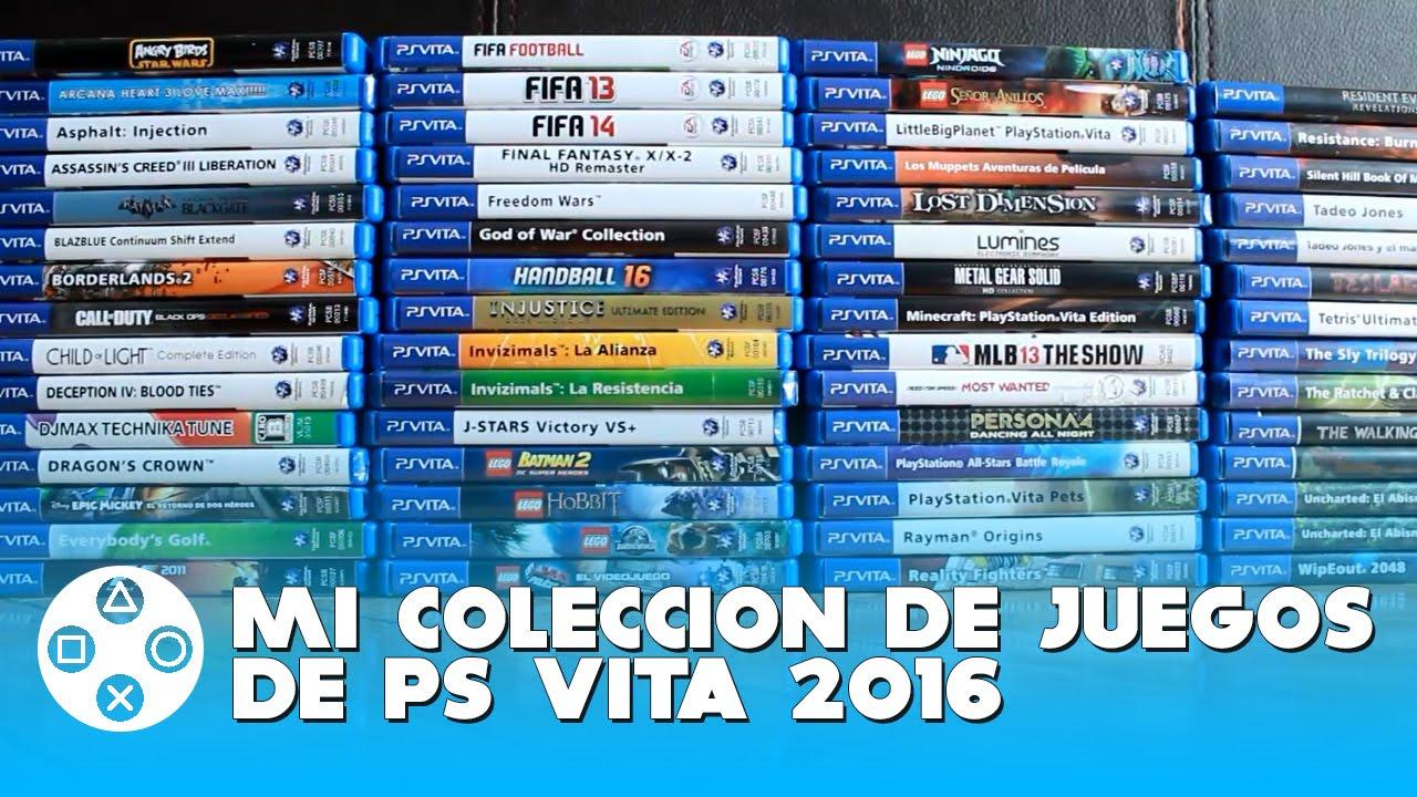 Mi Coleccion De Juegos De Ps Vita 2016 Psvitashare Youtube