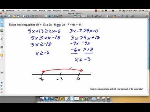 Solving Simultaneous Linear Inequalities