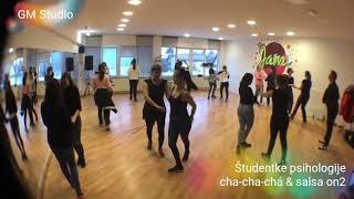 Cha-cha-chá in salsa on2 s študentkami psihologije v Mariboru