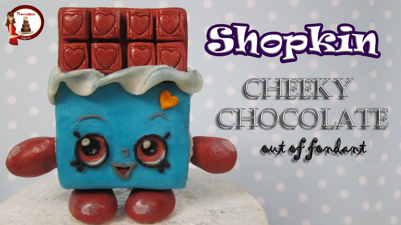 Shopkins Cheeky Chocolate Cake Topper Out Of Fondant