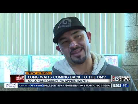 Long waits come back to Vegas DMV offices