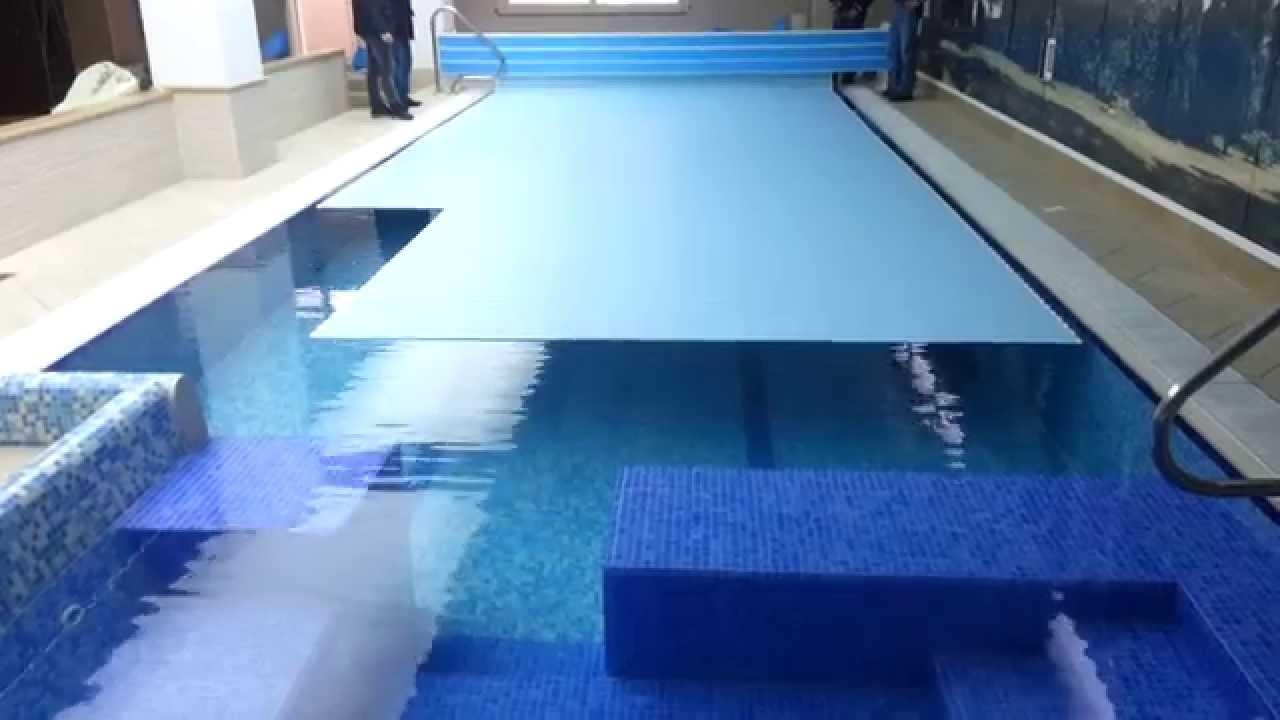 Copertura per piscina a tapparelle mod. TAPROLL (Video 2) - Edilmaggio Srl - YouTube