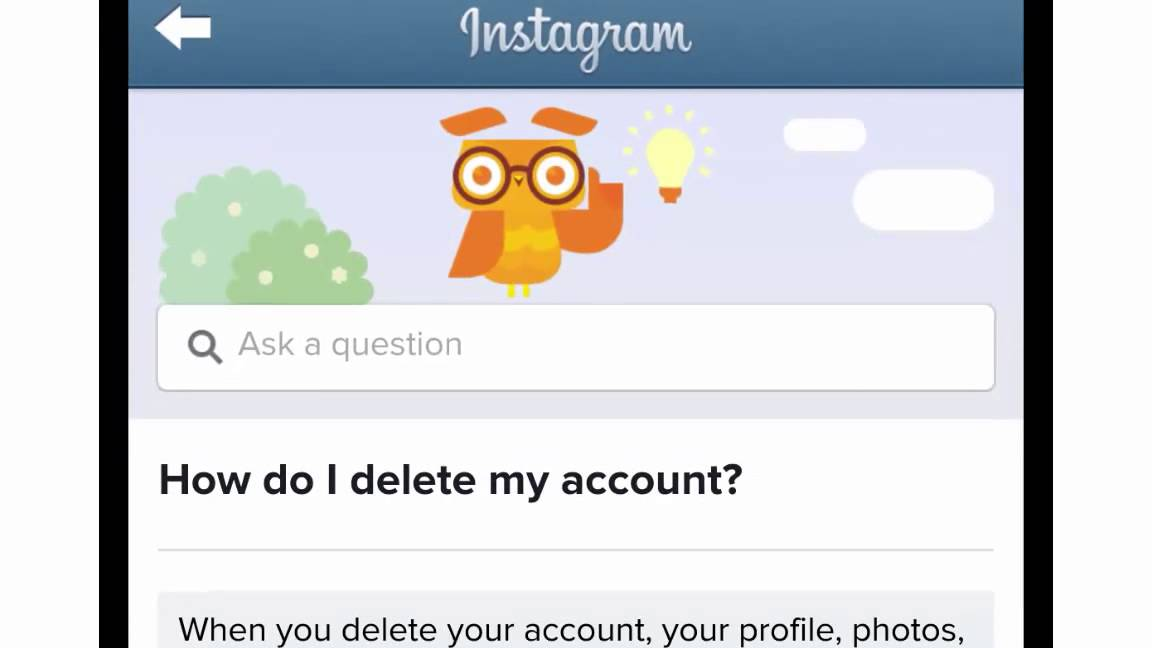 How to deactivate and delete an instagram account youtube how to deactivate and delete an instagram account ccuart Choice Image