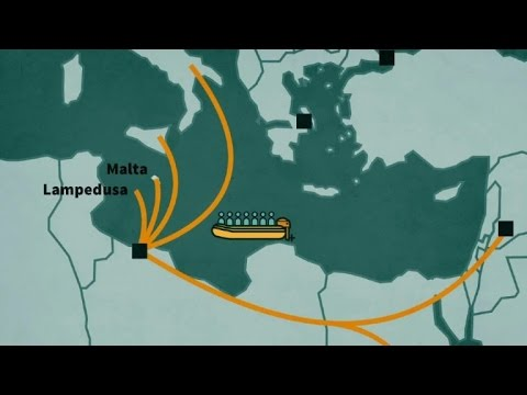 Migration routes to Europe