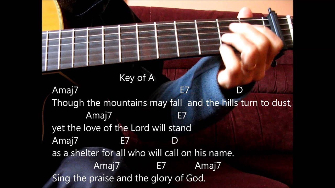 Catholic Hymn Guitar Solo Though The Mountains May Fall Dan