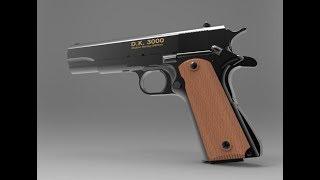 3D Model Colt M1911A1 & Assembly Drawing CAD File