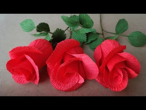 Abc Tv How To Make Rose Paper Flower From Crepe Paper Easy Craft Tutorial