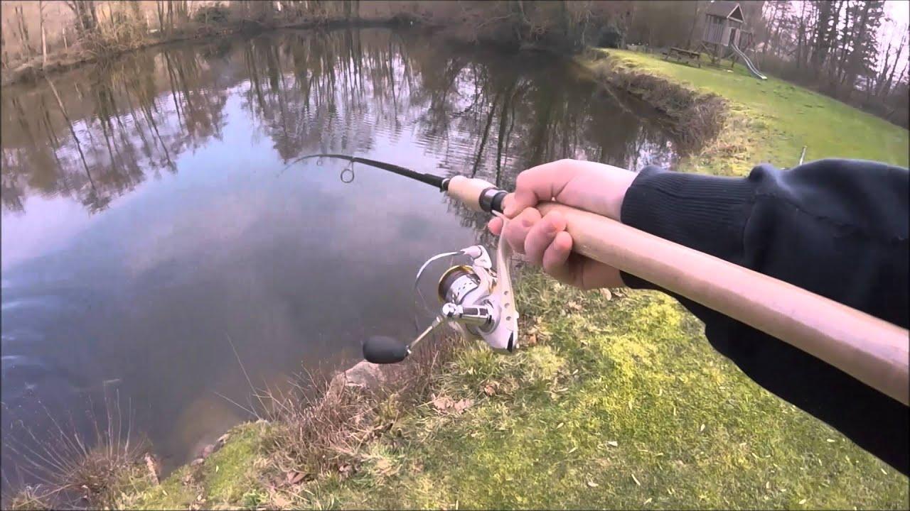 Pêche d un brochet à la cuiller Mepps Syclops n°3 - Attaque en direct -  GoPro HD  1 740c1413952