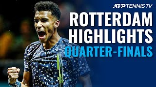 Auger-Aliassime on the Attack; Monfils Back in Semis | Rotterdam 2020 Quarter-Final Highlights