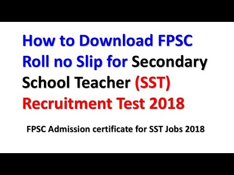How to Download FPSC Roll no Slip for Secondary School