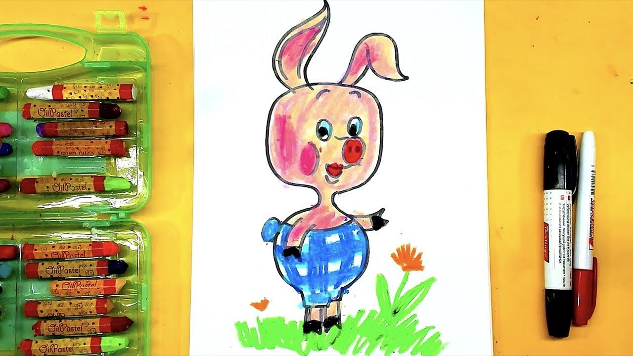 ПЯТОЧОК и Винни Пух / урок рисования для детей - YouTube