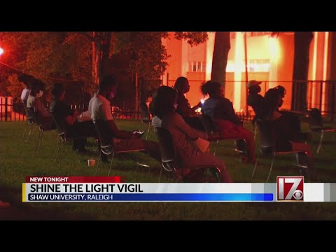 Racial justice vigil held at Shaw University in Raleigh