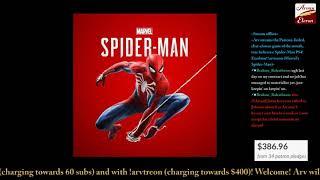 Arv streams Spider-Man PS4!