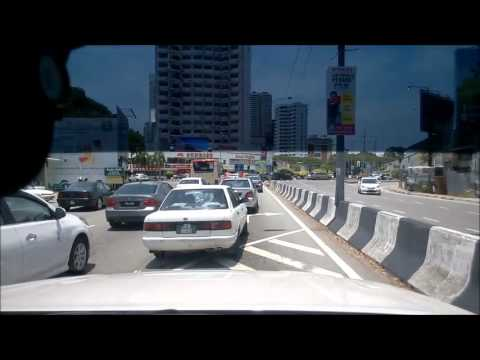 Driving In Penang Malaysia 2015