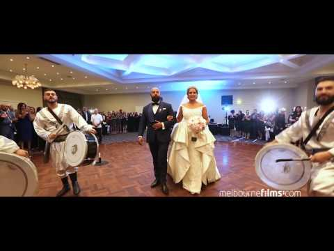 Amazing  wedding entrance with crazy Lebanese Drummers 10 + www.melbournefilms