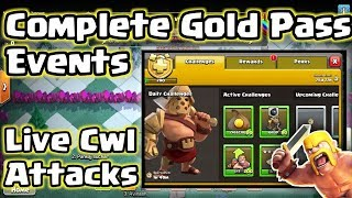 Live Cwl + Completing Gold pass Events