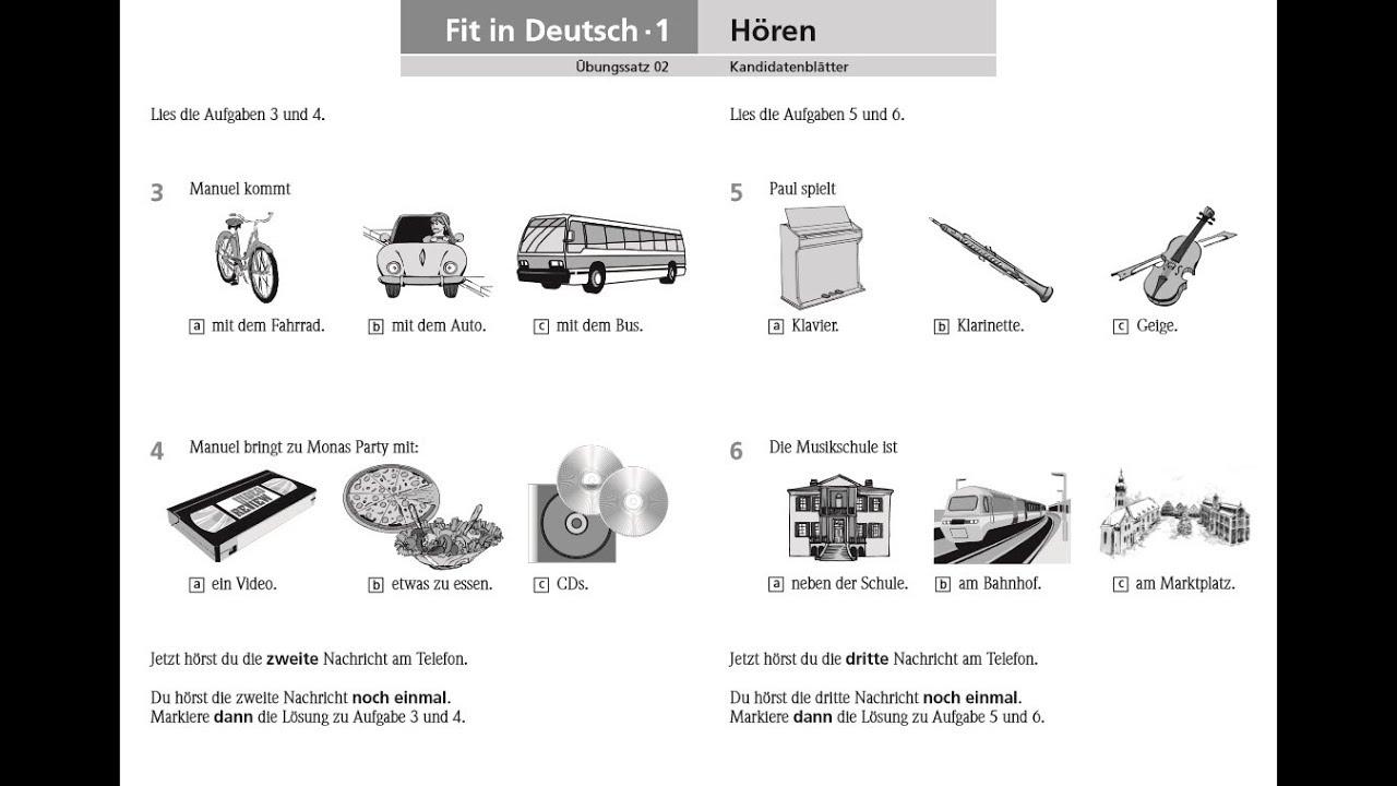 Goethe zertifikat a1 test  Language Test  2019-08-12