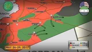 29 мая 2017. Военная обстановка в Сирии. Спецназ США атакует сирийскую армию. Русский перевод.