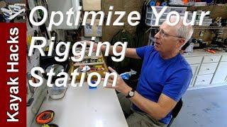 Fishing Tackle Organization - My Fishing Rigging Workstation Setup