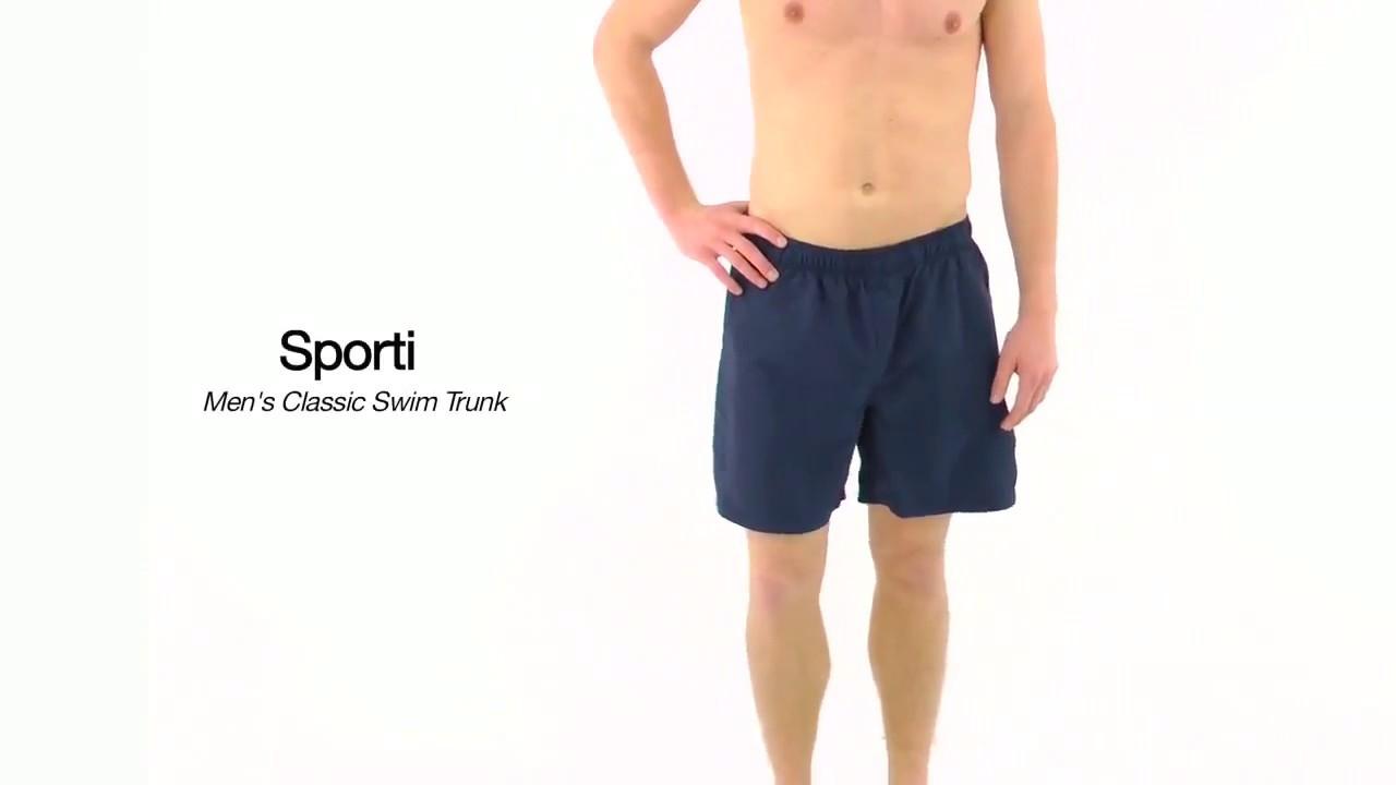969a8823ca Sporti Men's Classic Swim Trunk | SwimOutlet.com - YouTube