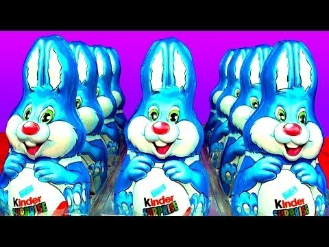 10 Kinder Surprise Bunnies - Counting 1-10 Song