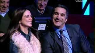 Dorra with Bassem Youssef / درة مع باسم يوسف فى البرنامج