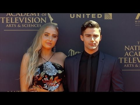 Veronica Dunne and Max Ehrich 2017 Daytime Emmy Awards Red Carpet