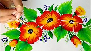 One Stroke Painting Tutorial for Beginners | Acrylic Painting