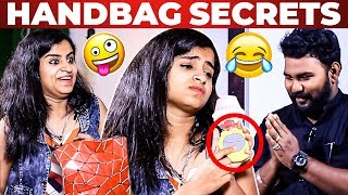 Singer Shivangi Handbag Secrets Revealed by Vj Ashiq | What's Inside the Handbag?