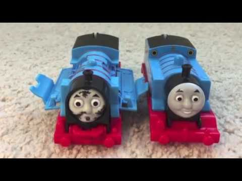 Thumbnail: Crash & Repair Thomas the train motorized Trackmaster train review unbox play